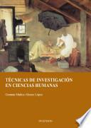 Libro de Técnicas De Investigación En Ciencias Humanas