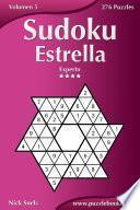Libro de Sudoku Estrella   Experto   Volumen 5   276 Puzzles