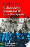 Libro de El Dieciocho Brumario De Luis Bonaparte