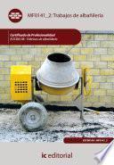 Libro de Trabajos De Albañilería. Eocb0108