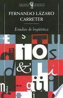 Libro de Estudios De Lingüística