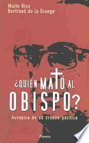 Libro de Quién Mató Al Obispo?