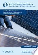 Libro de Montaje Mecánico En Instalaciones Solares Fotovoltáica. Enae0108