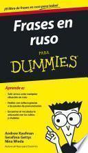 Libro de Frases En Ruso Para Dummies