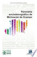 Libro de Panorama Sociodemográfico De Michoacán De Ocampo