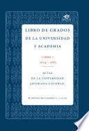 Libro de Libro De Grados De Universidad Y La Academia.