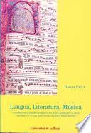 Libro de Lengua, Literatura, Música