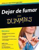 Libro de Dejar De Fumar Para Dummies