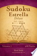 Libro de Sudoku Estrella Deluxe   De Fácil A Experto   Volumen 7   468 Puzzles