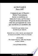 Libro de Almanaque Para 1557 De Nostradamus