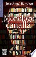 Libro de Monólogo De Un Canalla