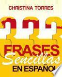 Libro de 333 Frases Sencillas En Español