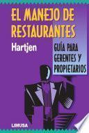 Libro de El Manejo De Restaurantes
