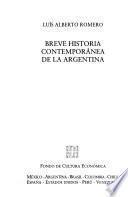 Libro de Breve Historia Contemporánea De La Argentina