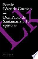 Libro de Don Pablo De Santamaría Y 16 Epístolas