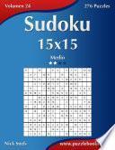 Libro de Sudoku 15×15   Medio   Volumen 24   276 Puzzles