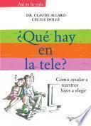 Libro de ¿qué Ponen En La Tele?