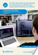 Libro de Desarrollo Y Optimización De Componentes Software Para Tareas Administrativas De Sistemas. Ifct0609