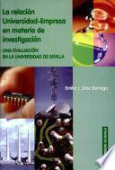 Libro de La Relación Universidad Empresa En Materia De Investigación