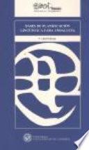 Libro de Bases De Planificación Lingüística Para Andalucía