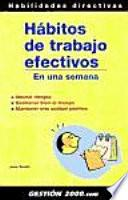 Libro de Hábitos De Trabajo Efectivos En Una Semana