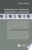 Libro de Arquitectura I Moviment. Arquitectura Y Movimiento
