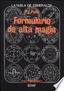 Libro de Formulario De Alta Magia