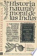 Libro de Historia Natural Y Moral De Las Indias