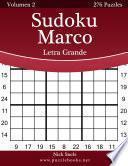 Libro de Sudoku Marco Impresiones Con Letra Grande   Volumen 2   276 Puzzles