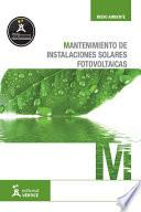 Libro de Mantenimiento De Instalaciones Solares Fotovoltaicas