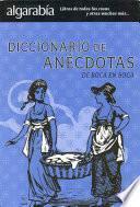 Libro de Diccionario De Anecdotas. De Boca En Boca