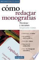 Libro de Cómo Redactar Monografías