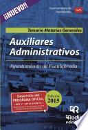 Libro de Auxiliares Administrativos Del Ayuntamiento De Fuenlabrada. Temario Materias Generales