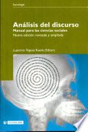 Libro de Análisis Del Discurso. Manual Para Las Ciencias Sociales