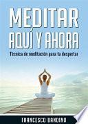 Libro de Meditar Aquí Y Ahora. Técnica De Meditación Para Tu Despertar.