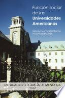 Libro de Funcin Social De Las Universidades Americanas