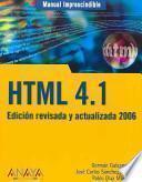 Libro de Manual Imprescindible De Html 4.1
