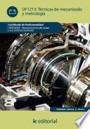 Libro de Técnicas De Mecanizado Y Metrología. Tmvg0409