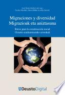 Libro de Migraciones Y Diversidad / Migrazioak Eta Aniztasuna