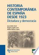 Libro de Historia Contemporánea De España Desde 1923