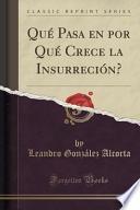 Libro de Qué Pasa En Por Qué Crece La Insurreción? (classic Reprint)