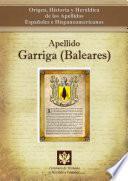 Libro de Apellido Garriga (baleares)