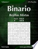 Libro de Binario Rejillas Mixtas   De Fácil A Difícil   Volumen 1   276 Puzzles
