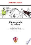 Libro de El Precontrato De Trabajo