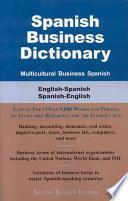Libro de Spanish Business Dictionary