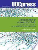 Libro de Populismo Y Comunicación