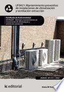 Libro de Mantenimiento Preventivo De Instalaciones De Climatización Y Ventilación Extracción. Imar0208