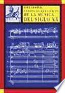 Libro de Enfoques Analíticos De La Música Del Siglo Xx