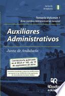 Libro de Temario Volumen 1. Auxiliares Administrativos De La Junta De Andalucía. Área Jurídico Administrativa General