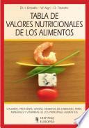 Libro de Tabla De Valores Nutricionales De Los Alimentos